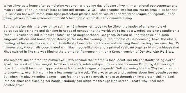 Nữ idol TWICE - Jihyo: Chỉ có LMHT mới mang lại niềm vui, vì trong game tôi được là chính mình - Ảnh 1.