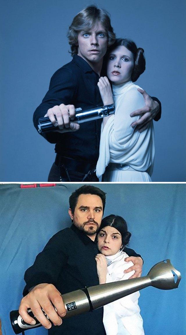 Thán phục cặp đôi cosplay lại các phân cảnh trong 20 bộ phim nổi tiếng giữa mùa cách ly - Ảnh 10.