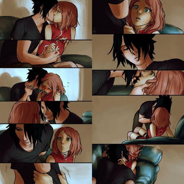 Naruto: Ngắm loạt fan art vợ chồng người ta tình bể bình mà chỉ biết ước - Ảnh 4.