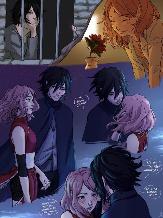 Naruto: Ngắm loạt fan art vợ chồng người ta tình bể bình mà chỉ biết ước - Ảnh 9.