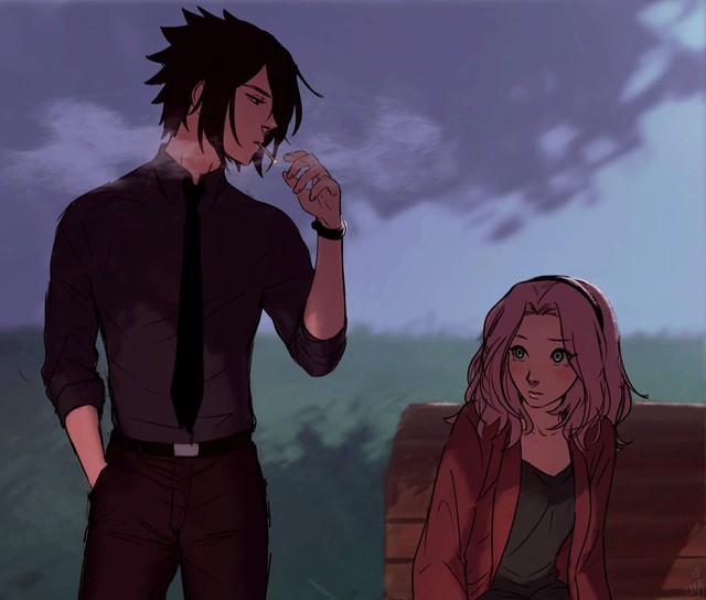 Naruto: Ngắm loạt fan art vợ chồng người ta tình bể bình mà chỉ biết ước - Ảnh 13.