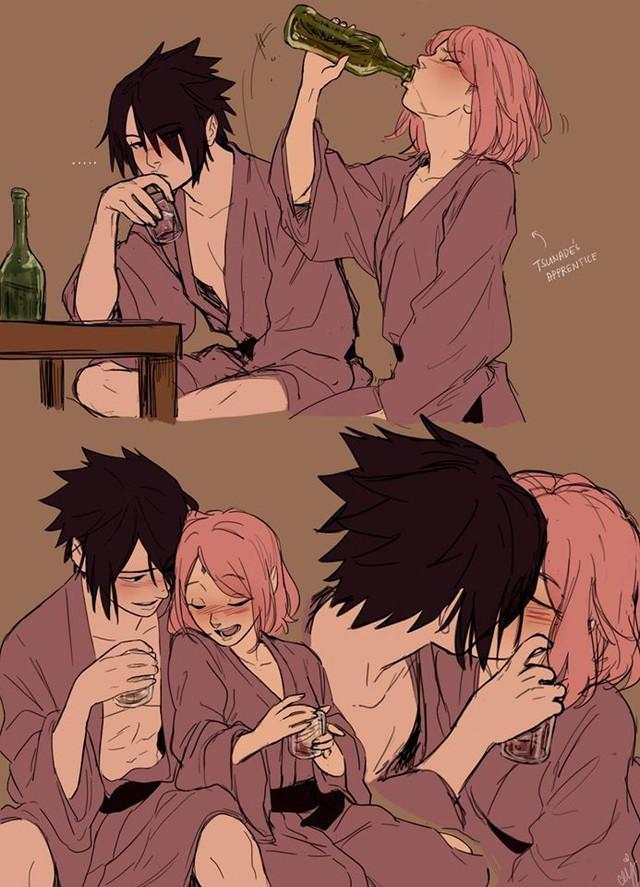 Naruto: Ngắm loạt fan art vợ chồng người ta tình bể bình mà chỉ biết ước - Ảnh 17.