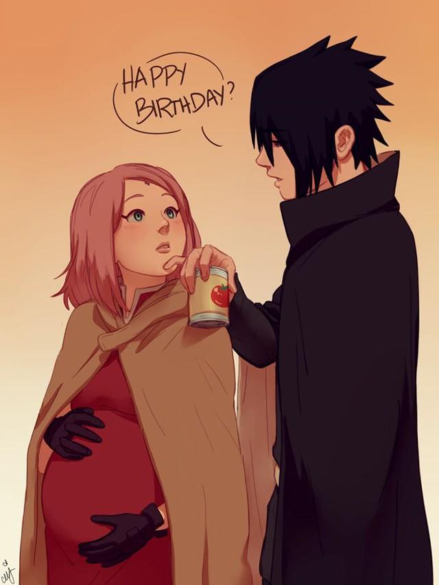 Naruto: Ngắm loạt fan art vợ chồng người ta tình bể bình mà chỉ biết ước - Ảnh 19.