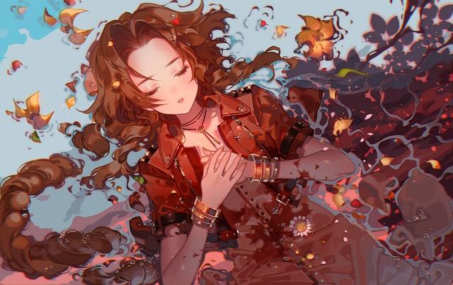 Loạt tranh đầy nóng bỏng về Aerith, hồng nhan bạc phận của Final Fantasy VII - Ảnh 1.