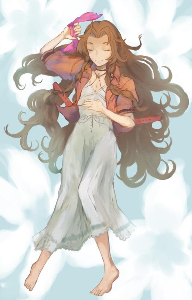Loạt tranh đầy nóng bỏng về Aerith, hồng nhan bạc phận của Final Fantasy VII - Ảnh 3.