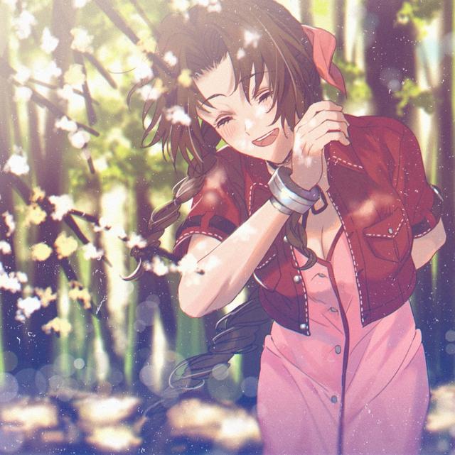 Loạt tranh đầy nóng bỏng về Aerith, hồng nhan bạc phận của Final Fantasy VII - Ảnh 8.