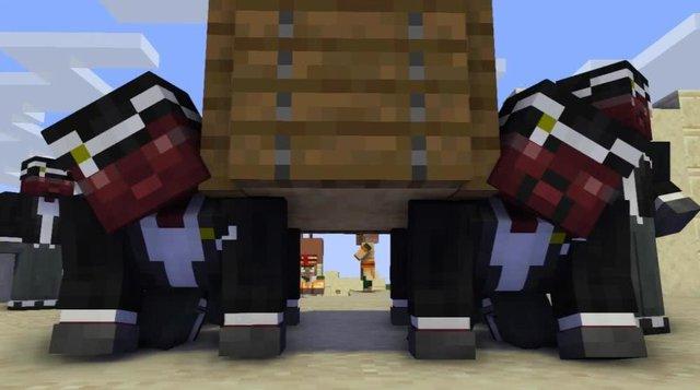 """Game thủ tạo """"anh da đen khiêng hòm"""" trong Minecraft và hình ảnh nhận được vô cùng kinh dị, khuyến cáo không dành cho trẻ em dưới 12 tuổi - Ảnh 2."""