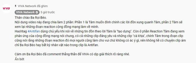 VIVA Network thanh minh sau khi hô biến Thầy Giáo Ba thành anti hotgirl Trứng rán cần mỡ và xóa bình luận của Thầy - Ảnh 4.