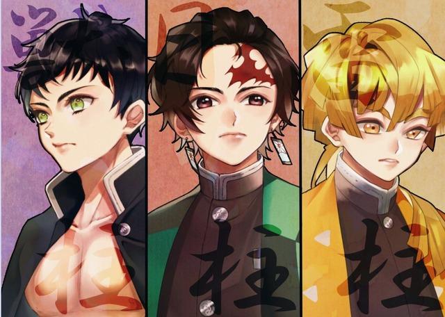 Ngắm loạt fan art bộ 3 soái ca Zen-Tan-Ino trong Kimetsu no Yaiba mà muốn rụng trứng - Ảnh 13.