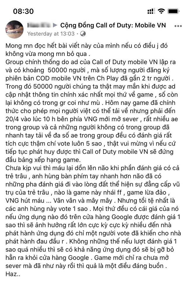 """Call of Duty: Mobile VN vừa ra, các sửu nhi đã chửi game """"nhái"""" Free Fire, hò nhau vote 1 sao - Ảnh 5."""