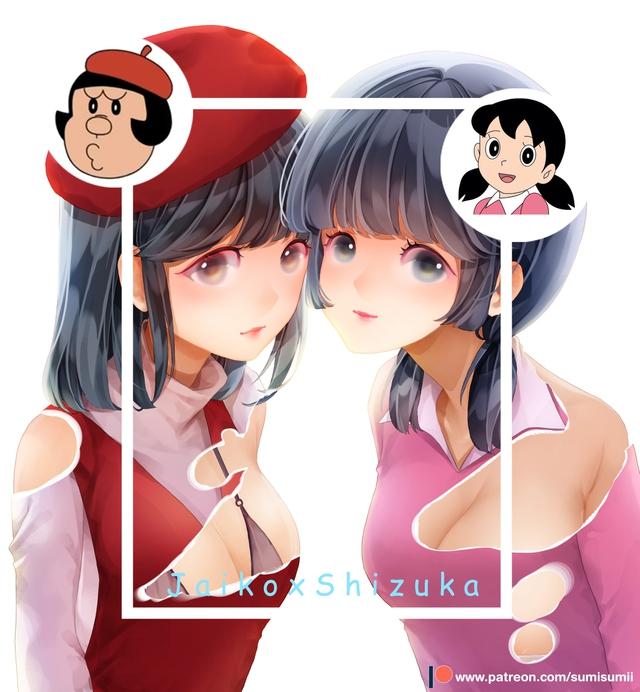Loạt tranh đáng yêu về Shizuka, cô bé xinh xắn nhất trong nhóm bạn Doraemon - Ảnh 8.