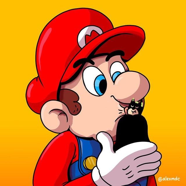 """Tuổi thơ Mario của game thủ bị """"hủy hoại"""" vô cùng tàn nhẫn với những hình ảnh này, khuyến cáo không dành cho trẻ dưới 12 tuổi - Ảnh 9."""
