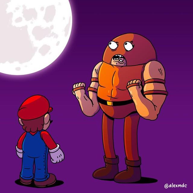 """Tuổi thơ Mario của game thủ bị """"hủy hoại"""" vô cùng tàn nhẫn với những hình ảnh này, khuyến cáo không dành cho trẻ dưới 12 tuổi - Ảnh 4."""