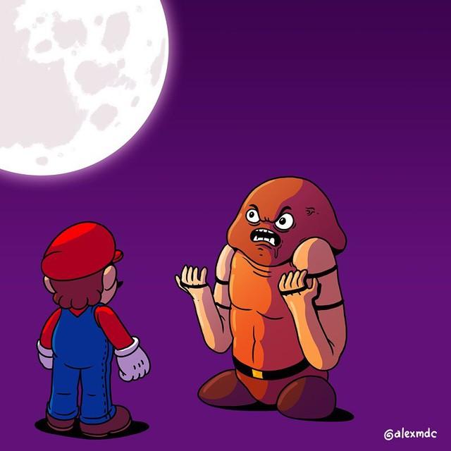 """Tuổi thơ Mario của game thủ bị """"hủy hoại"""" vô cùng tàn nhẫn với những hình ảnh này, khuyến cáo không dành cho trẻ dưới 12 tuổi - Ảnh 3."""