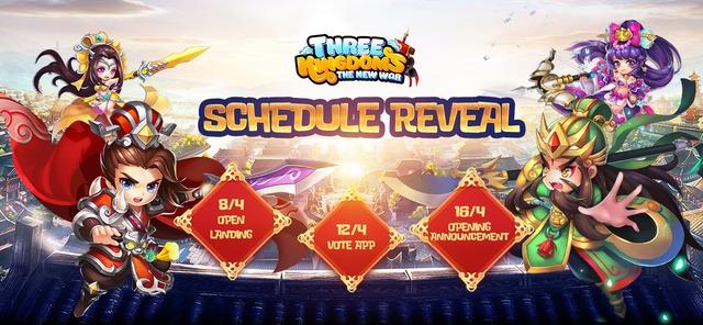 """Game """"chiến thuật quốc tế"""" Three Kingdoms: The New War chính thức tung Landing, ra mắt 16/4 - Ảnh 1."""
