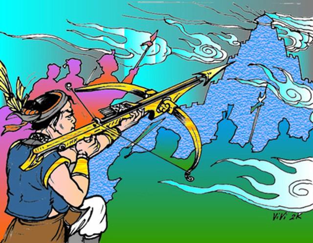 Top những món vũ khí nổi tiếng nhất trong thần thoại Việt Nam - Ảnh 2.