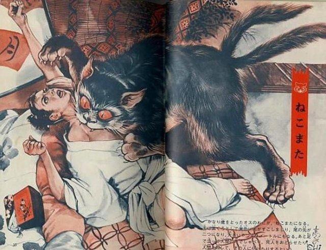 Ma mèo báo thù, truyền thuyết ly kỳ và quái dị của người Nhật Bản - Ảnh 2.