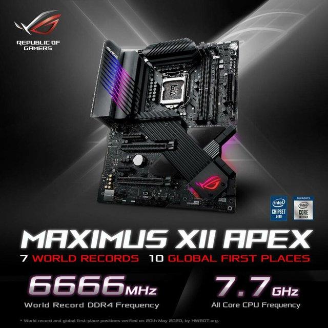 Intel Core i9-10900K đạt kỷ lục ép xung 7,7 GHz trên bo mạch chủ ASUS ROG MAXIMUS XII APEX - Ảnh 1.