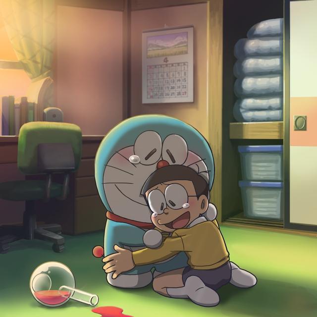 Loạt tranh Doraemon và gia đình Nobi dành cho hội fan mèo máy - Ảnh 7.