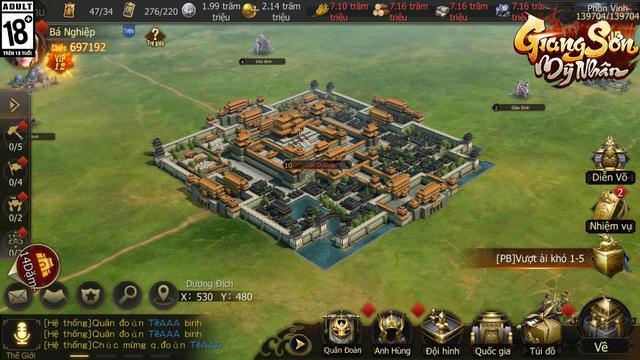 """Giang Sơn Mỹ Nhân: Game chiến thuật SLG """"Full 3D"""" chân thực đến từng… viên gạch sắp ra mắt game thủ Việt trong tháng 6 - Ảnh 4."""