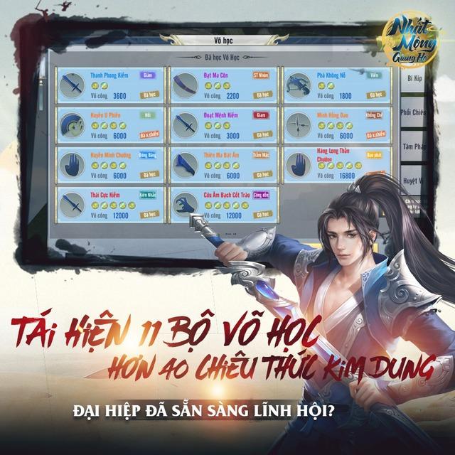 Nhất Mộng Giang Hồ - Game kiếm hiệp nhất phẩm, tái hiện võ học Kim Dung chuẩn bị ra mắt - Ảnh 4.