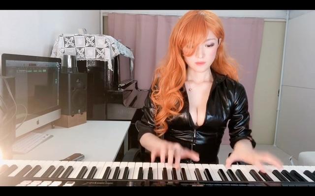 Thay áo liên tục và chơi piano trên sóng, nữ streamer khiến triệu fan vừa sướng tai vừa sướng mắt - Ảnh 2.