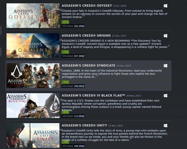 Nhân dịp Valhalla ra mắt, các tựa game Assassins Creed giảm giá sập sàn trên Steam - Ảnh 3.