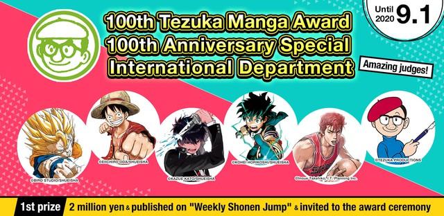 Tác giả One Piece và Dragon Ball cùng 3 mangaka khác ra mặt làm giám khảo cuộc thi Tezuka Manga lần thứ 100 - Ảnh 1.