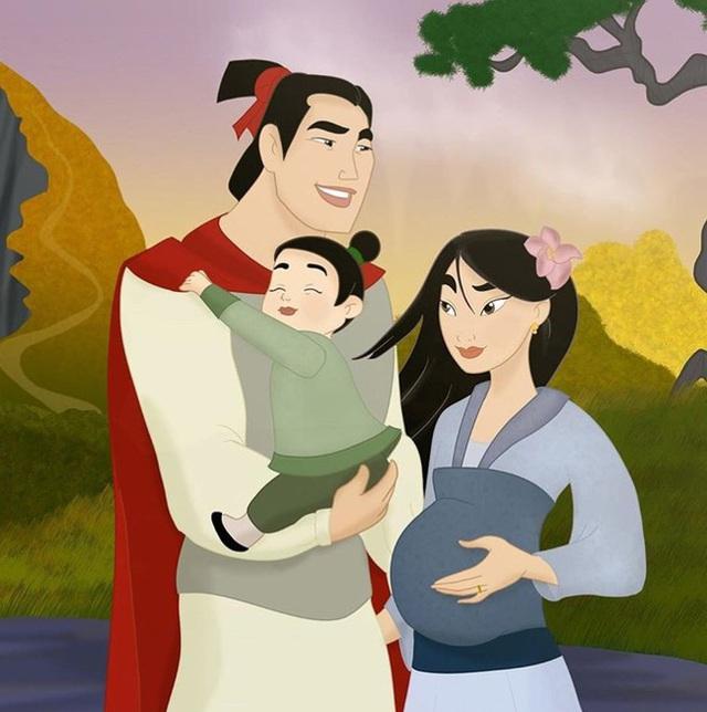 Bộ tranh Khi 18 cặp đôi nổi tiếng của Disney có con thu hút sự chú ý trên toàn thế giới - Ảnh 8.