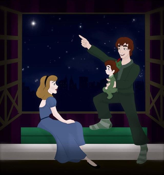 Bộ tranh Khi 18 cặp đôi nổi tiếng của Disney có con thu hút sự chú ý trên toàn thế giới - Ảnh 12.