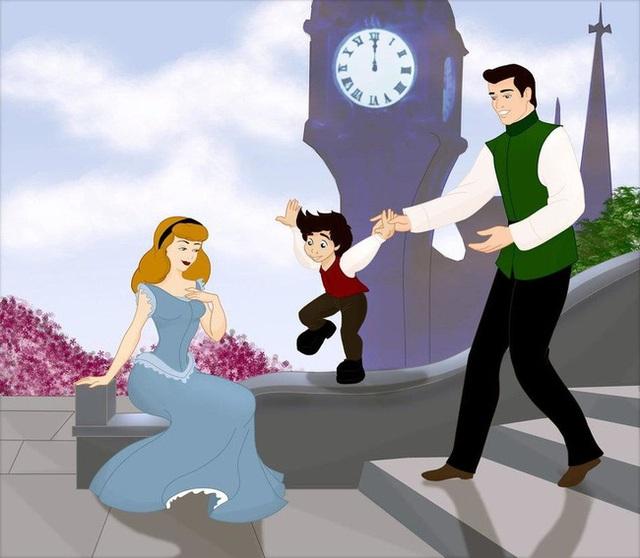 Bộ tranh Khi 18 cặp đôi nổi tiếng của Disney có con thu hút sự chú ý trên toàn thế giới - Ảnh 16.