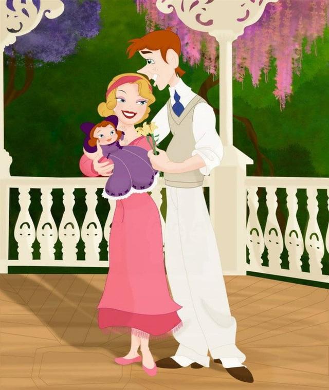 Bộ tranh Khi 18 cặp đôi nổi tiếng của Disney có con thu hút sự chú ý trên toàn thế giới - Ảnh 5.