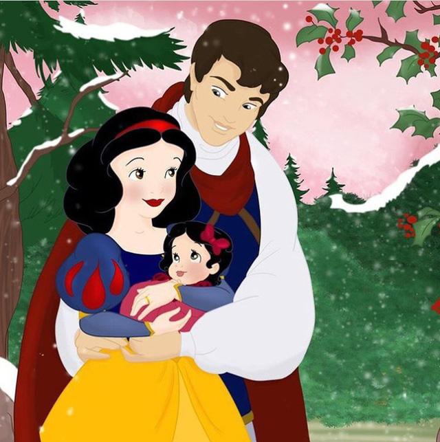 Bộ tranh Khi 18 cặp đôi nổi tiếng của Disney có con thu hút sự chú ý trên toàn thế giới - Ảnh 6.
