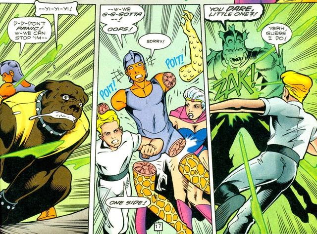 DC giới thiệu gia đình của Arm-Fall-Off Boy, siêu anh hùng vô dụng bậc nhất của hãng - Ảnh 2.