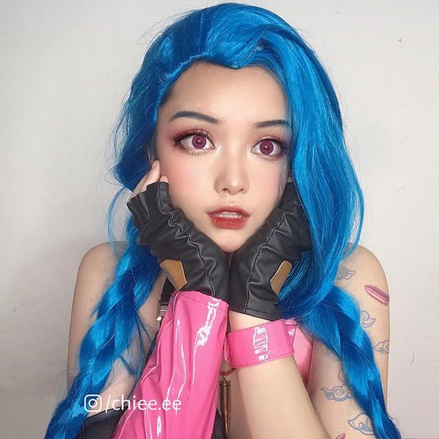 Ngất ngây với 1001 biểu cảm cute phô mai que của Jinx phiên bản Việt được hóa thân bởi Thánh nữ makeup - Ảnh 9.