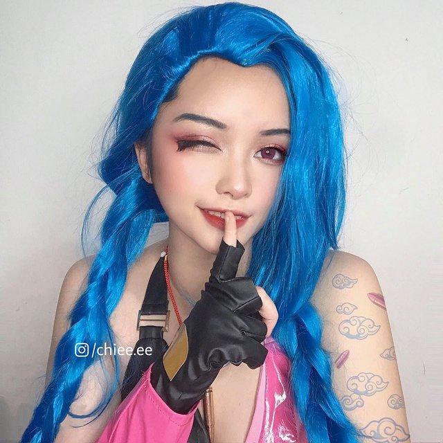 Ngất ngây với 1001 biểu cảm cute phô mai que của Jinx phiên bản Việt được hóa thân bởi Thánh nữ makeup - Ảnh 16.