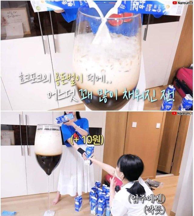 Học bà Tân Vlog làm trà sữa siêu to khổng lồ, nữ Youtuber người Hàn nhận cái kết đắng ngắt - Ảnh 1.