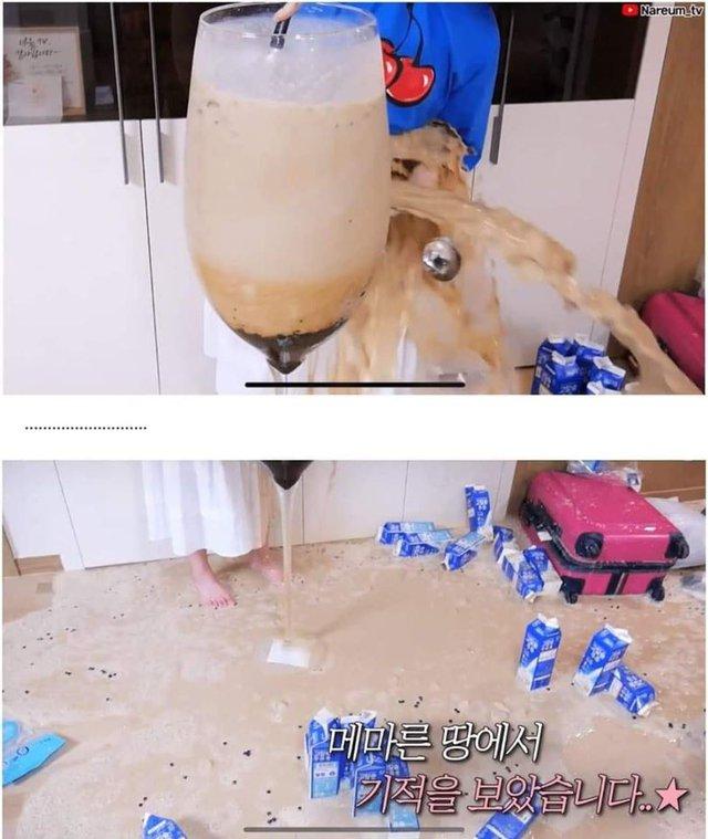 Học bà Tân Vlog làm trà sữa siêu to khổng lồ, nữ Youtuber người Hàn nhận cái kết đắng ngắt - Ảnh 4.
