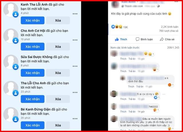 Bị bạn gái thẳng thừng block, chàng trai lập cả loạt FB clone để xin lỗi người yêu - Ảnh 2.