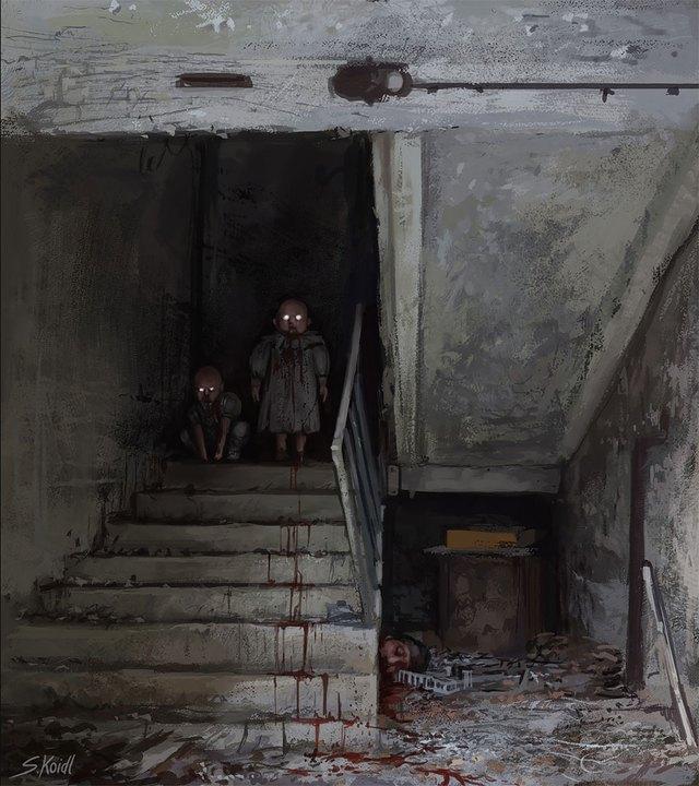 Những tác phẩm kinh dị của hoạ sĩ Stefan Koidl: Khi những cơn ác mộng sống lại trong tranh - Ảnh 2.