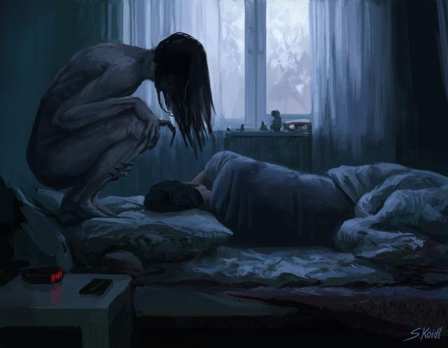 Những tác phẩm kinh dị của hoạ sĩ Stefan Koidl: Khi những cơn ác mộng sống lại trong tranh - Ảnh 19.