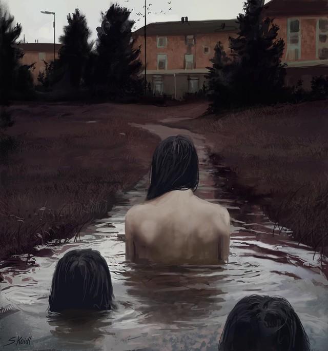 Những tác phẩm kinh dị của hoạ sĩ Stefan Koidl: Khi những cơn ác mộng sống lại trong tranh - Ảnh 24.