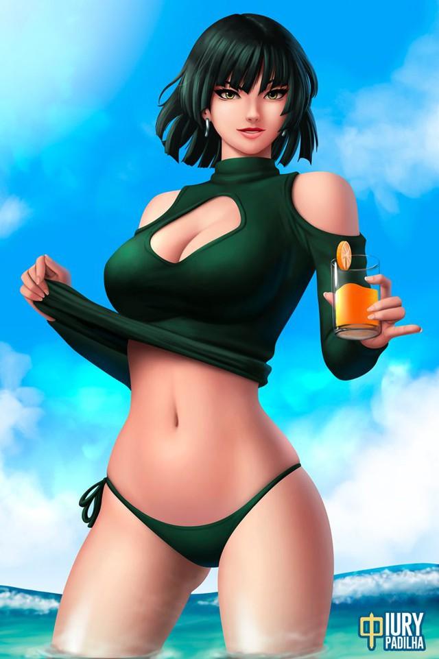 Nóng thế này thì sao phải mặc, ngắm đệ nhất mỹ nhân One-Punch Man diện bikini mà mát rượi tâm hồn - Ảnh 3.