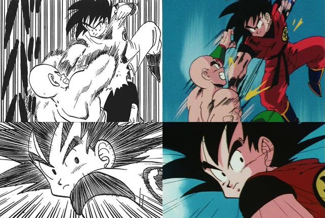 Dragon Ball: So sánh ảnh đen trắng với bản gốc anime, kẻ tám lạng người nửa cân, Goku vẫn quá chất - Ảnh 2.