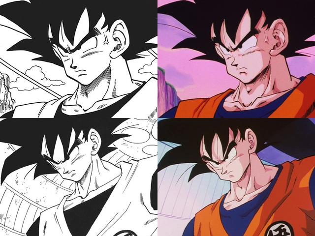Dragon Ball: So sánh ảnh đen trắng với bản gốc anime, kẻ tám lạng người nửa cân, Goku vẫn quá chất - Ảnh 3.