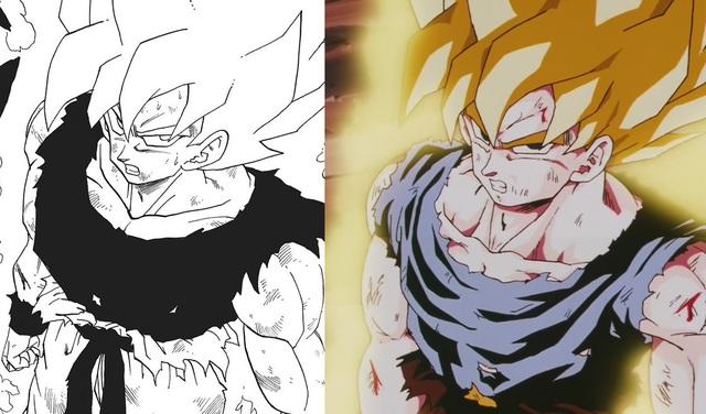Dragon Ball: So sánh ảnh đen trắng với bản gốc anime, kẻ tám lạng người nửa cân, Goku vẫn quá chất - Ảnh 4.