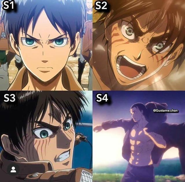 Ngắm quá trình dậy thì nhan sắc của dàn nhân vật Attack On Titan qua 4 Season anime - Ảnh 1.