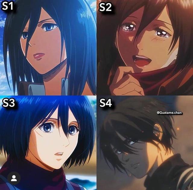 Ngắm quá trình dậy thì nhan sắc của dàn nhân vật Attack On Titan qua 4 Season anime - Ảnh 2.
