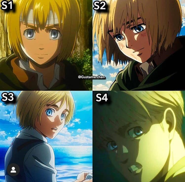 Ngắm quá trình dậy thì nhan sắc của dàn nhân vật Attack On Titan qua 4 Season anime - Ảnh 3.