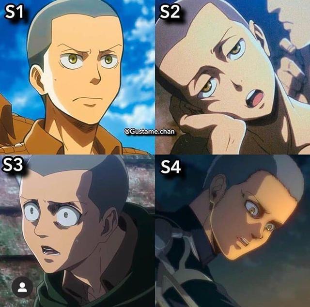 Ngắm quá trình dậy thì nhan sắc của dàn nhân vật Attack On Titan qua 4 Season anime - Ảnh 6.